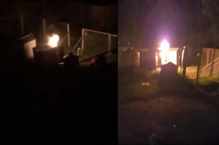 МЧС: Газгольдер на улице Космонавтов, возможно, подожгли хулиганы