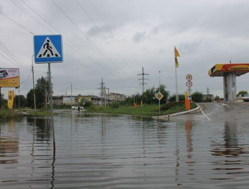 На улице Трансформаторной в Биробиджане образовалось «озеро»