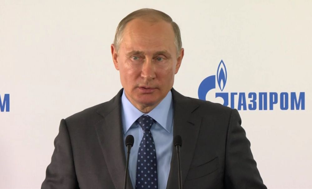 Владимир Путин принял участие в церемонии начала строительства Амурского газоперерабатывающего завода в Приамурье