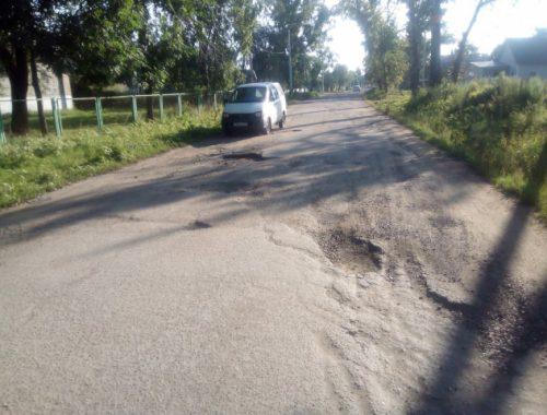 «Фронтовики» добиваются ремонта разбитой большегрузами дороги в Николаевке