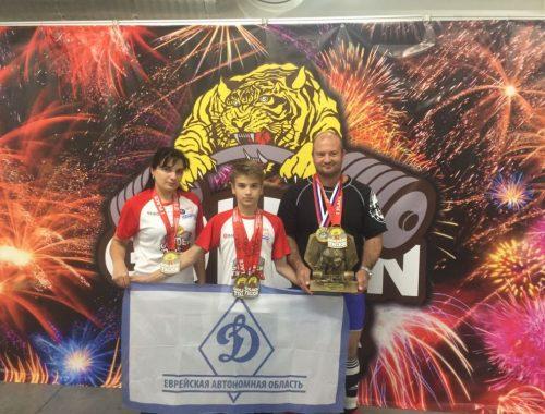 Семья полицейских из ЕАО выиграла чемпионат мира по силовым видам спорта