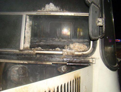 Прокуратура начала проверку по факту пожара в пассажирском автобусе