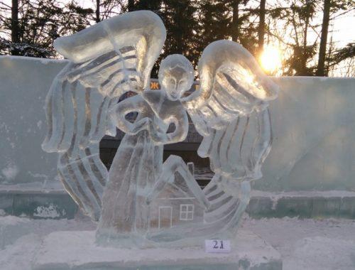 Подведены итоги международного конкурса ледовых скульптур «Хрустальная менора»