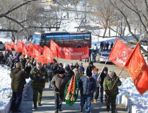 Коммунисты Дальнего Востока отметили 96-ю годовщину победы в Волочаевском бою