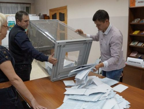 В ЕАО закрылись участки для голосования на выборах президента