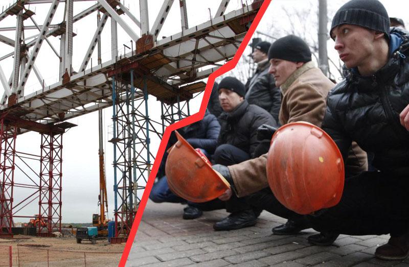 Строители моста между Россией иКитаем остановили работу из-за долгов