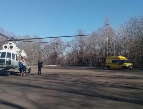 Больного ребёнка доставили вертолётом МЧС из Биробиджана в Хабаровск