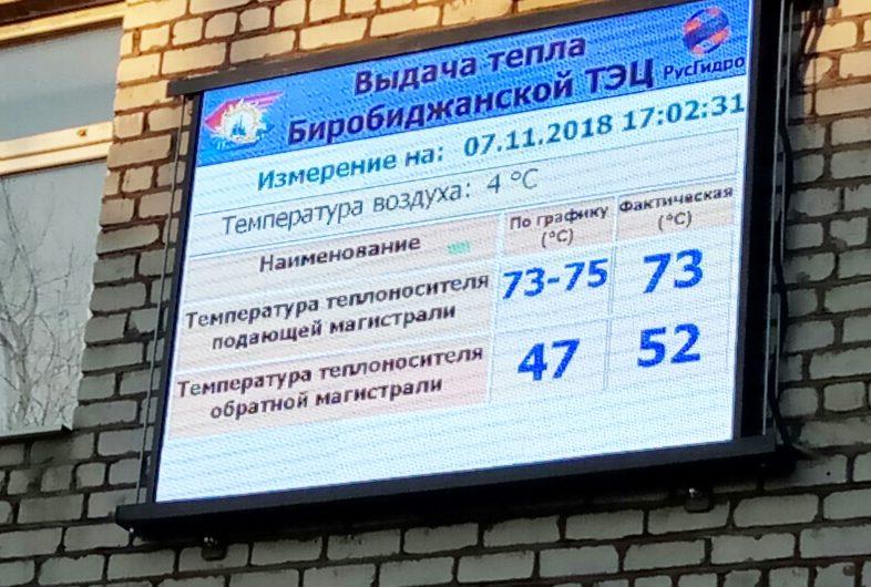 С помощью электронного табло Биробиджанская ТЭЦ намерена доказать потребителям, как «плохо» работают управляющие компании