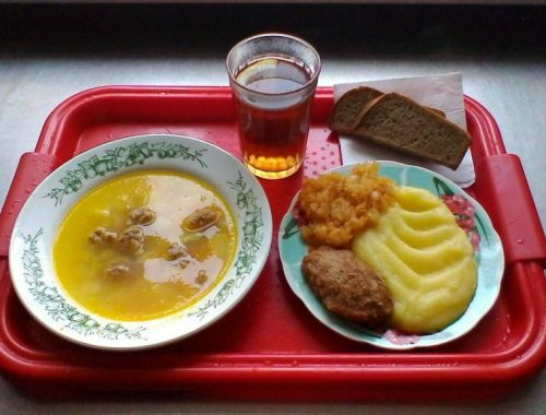 Треть россиян критикуют еду в школах и больницах