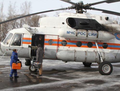 Беременную женщину на вертолете доставили из Биробиджана в Хабаровск