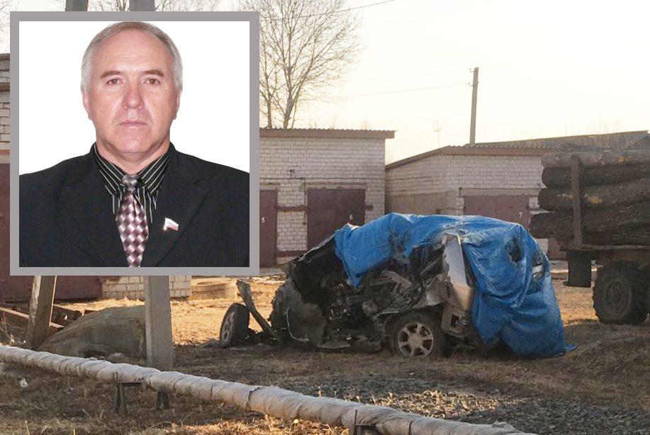 Разбил вдребезги служебную машину в ноябре и до сих пор не возместил ущерб председатель смидовичского райсобрания, единоросс Г. Побоков