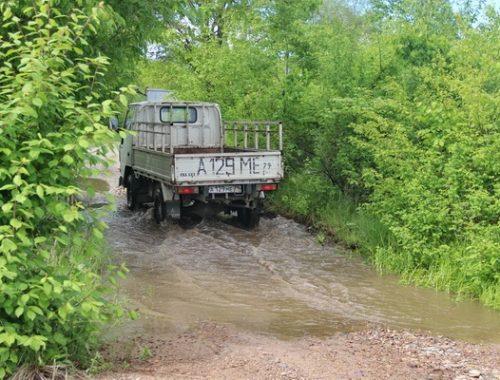 Шесть участков дорог затопило в ЕАО
