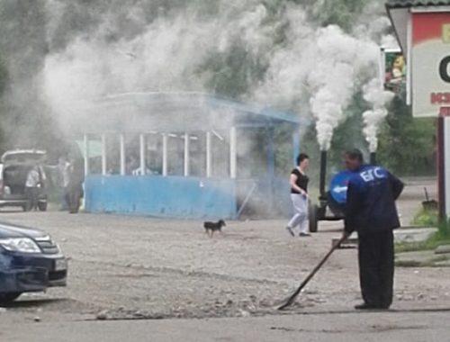 После публикации «Набата» спецтехника и дорожные рабочие появились на Бумагина, 5