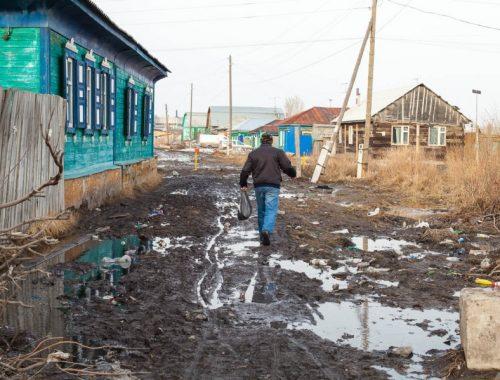 Дома и приусадебные участки в Биробиджане освободились от воды