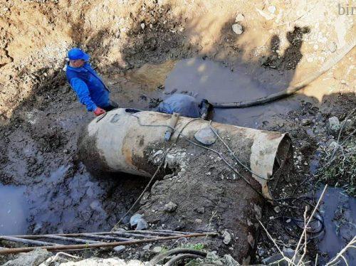 В Биробиджане изношенный канализационный коллектор вновь напомнил о себе