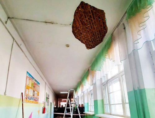 Следком устанавливает обстоятельства обвала штукатурки в школе №10