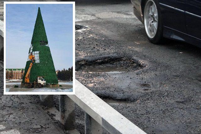 Деньги на ремонт старого моста ушли в Калугу, зато мэр Головатый строит «фиг-вам» на площади Ленина