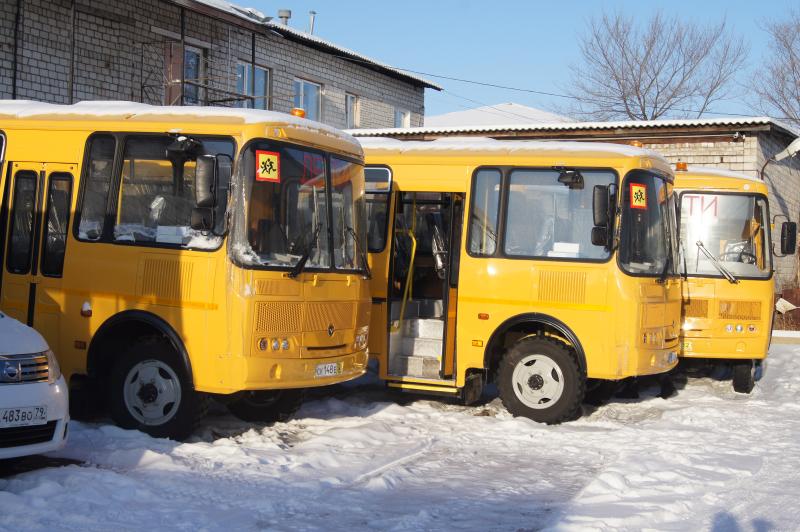 Дюжина новых школьных автобусов поступила в ЕАО