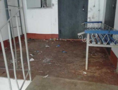 Вандалы портят имущество многоквартирного дома в Биробиджане