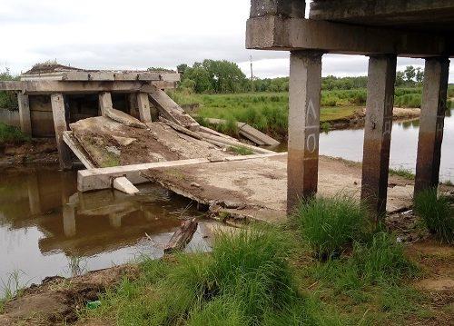 Рухнувший мост отрезал фермеров Желтого Яра от их полей