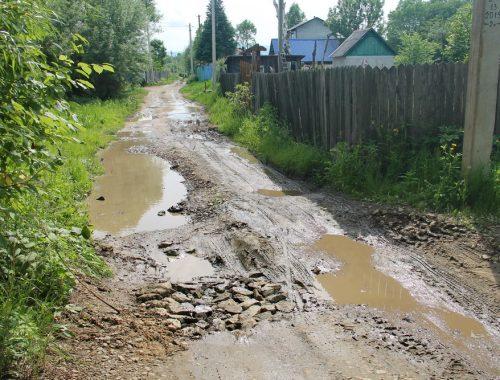 Дорога к дачам на 13 километре Биршоссе не отвечает требованиям безопасности