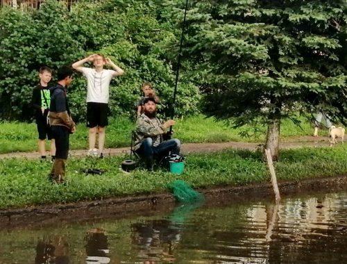Гиви «поймал рыбу» во дворе многоквартирного дома