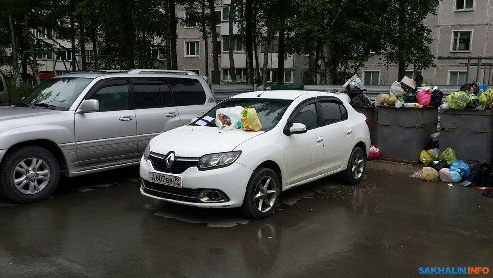 Машина из ЕАО мешает южносахалинцам жить без мусора
