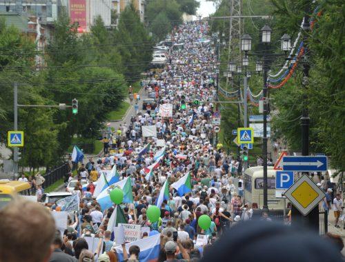Седьмая субботняя манифестация прошла в Хабаровске