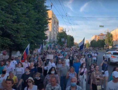 «Чемодан, билет, Самара!»: Хабаровск отреагировал на назначение Дегтярёва массовой демонстрацией протеста