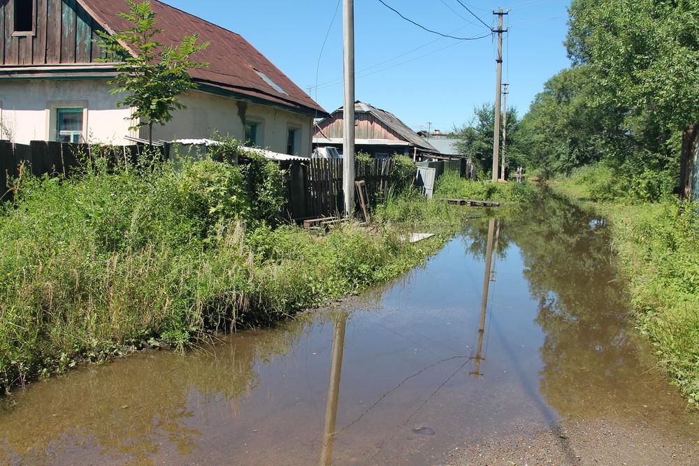 Очередное наводнение в Биробиджане пока не привело к введению режима ЧС