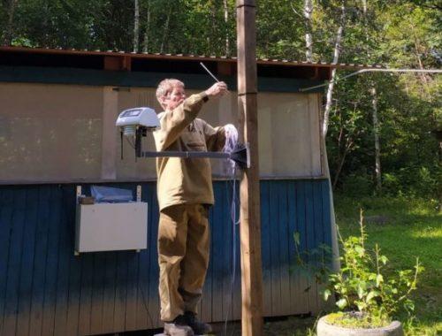 В заповеднике «Бастак» установили профессиональную метеостанцию