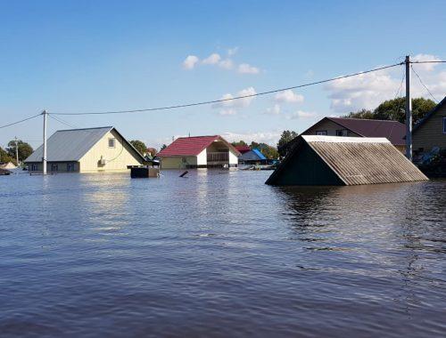 Гребень паводка, превысившего в Амурской области уровень 2013 года, движется в сторону ЕАО