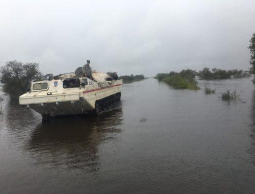 В селе Ленинское сегодня пик паводка