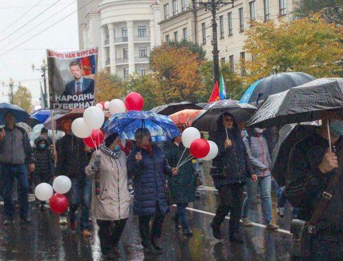 В Хабаровске арестовали 10 участников акции в поддержку Фургала