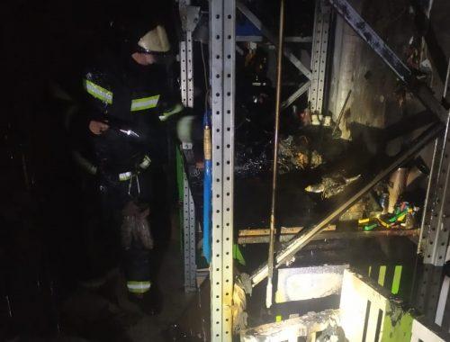 Новый пожар в ТРЦ «Гигант»: выгорела мастерская площадью 6 кв. м, жертв нет