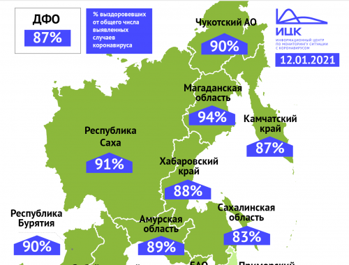 Процент выздоровевших пациентов с коронавирусом в ЕАО один из самых низких на Дальнем Востоке
