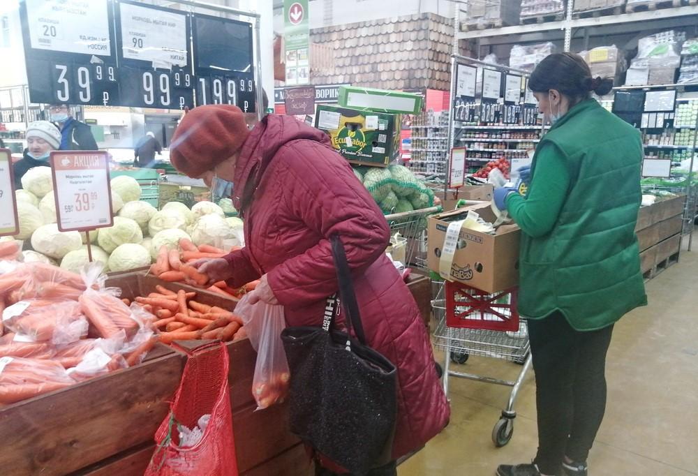 Россияне стали меньше тратить на еду