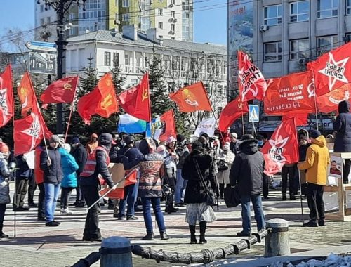 Максим Кукушкин на митинге в Хабаровске: Давайте придём на сентябрьские выборы, чтобы отправить партию «Едим Россию» на свалку истории