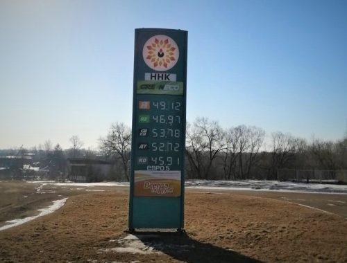 В Биробиджане растут цены на автомобильное топливо