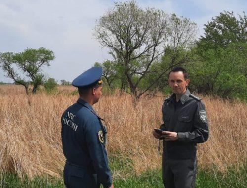 В Ленинском районе МЧС и Россельхознадзор провели противопожарные рейды по сельхозземлям