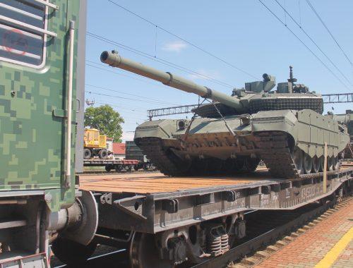 Биробиджанцы с энтузиазмом встретили патриотический поезд