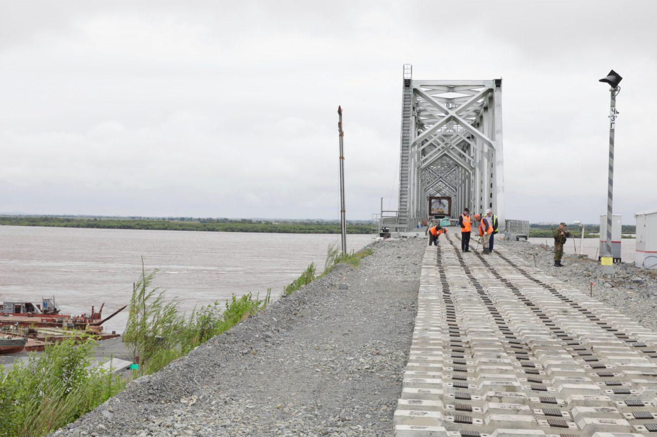 К 26 августа власти ЕАО пообещали ввести в эксплуатацию трансграничный мост через Амур в Нижнеленинском