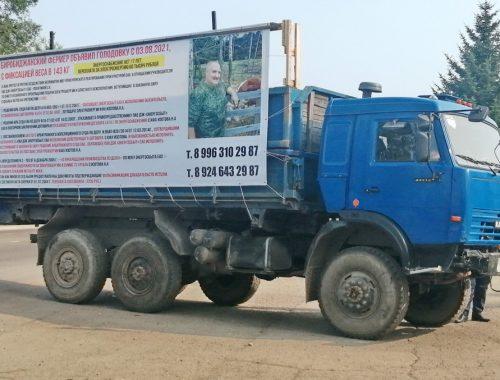 Биробиджанский фермер устроил акцию протеста против Энергосбыта и прокуратуры