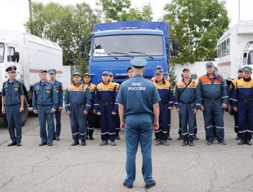 В пункт постоянной дислокации вернулась аэромобильная группировка ГУ МЧС России по ЕАО