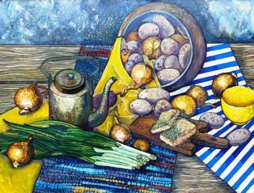 В Биробиджане открылась персональная выставка Александры Деревниной «Луч солнца золотой»